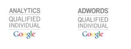 footer certificados analytics y adwords